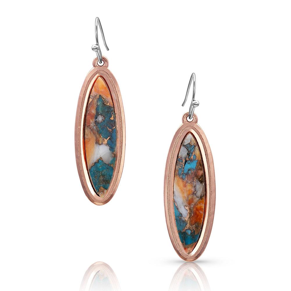 A Bit of Sunlit Mountain Glacier Turquoise Earrings