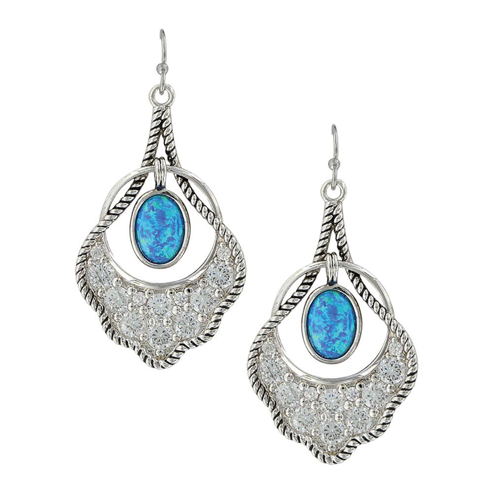 Scalloped Fan Opal Earrings