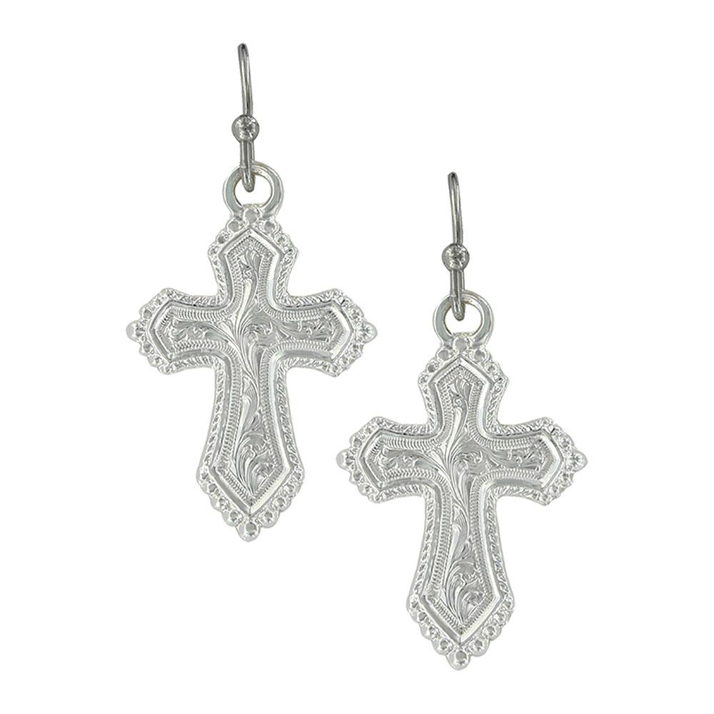 Shining in Faith Cross Earrings