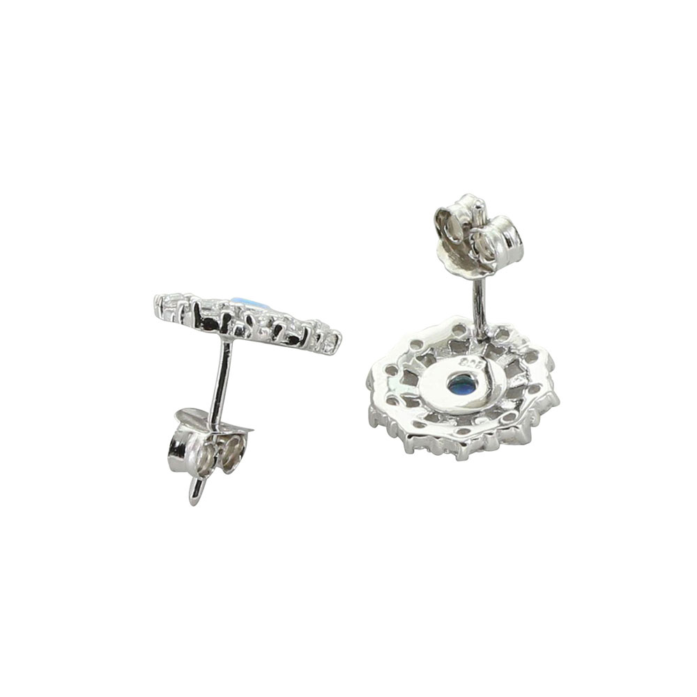 Wagon Wheel Opal Stud Earrings