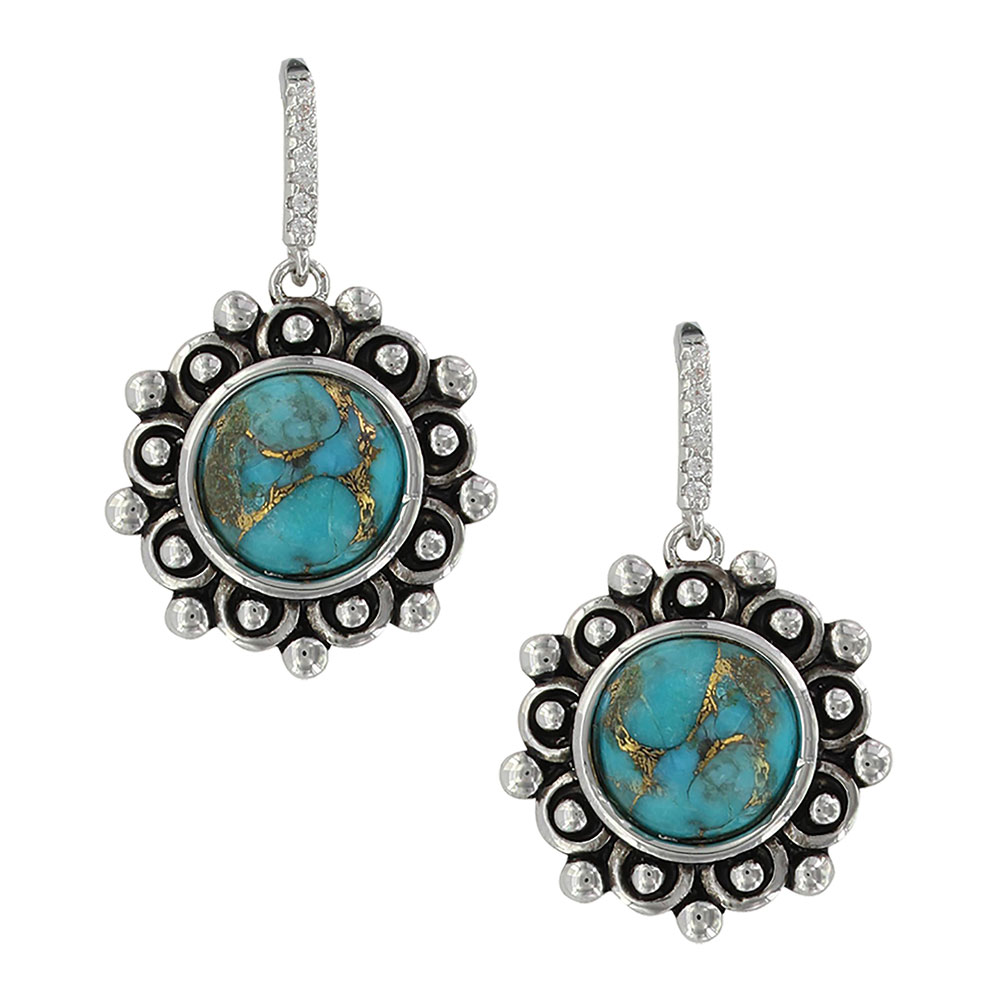 Southern Lace Turquoise Earrings