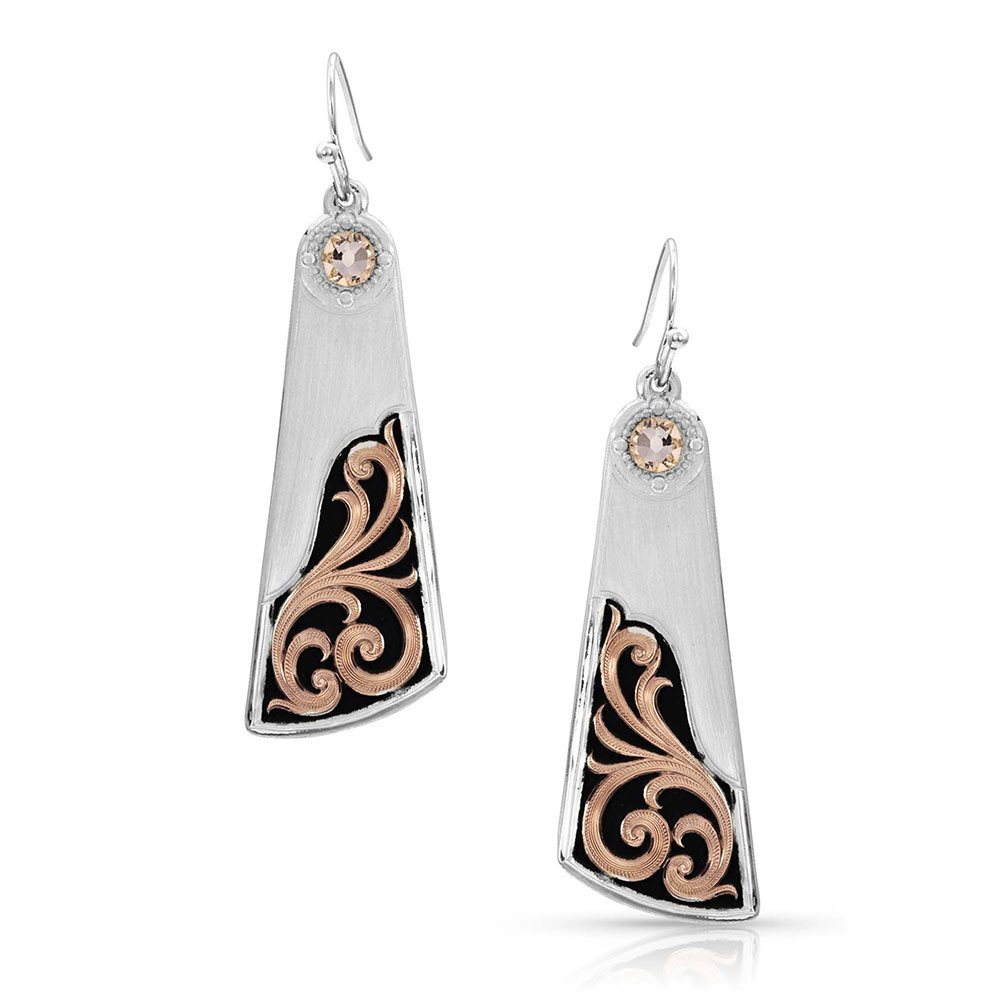 Over the Horizon Rose Gold Earrings