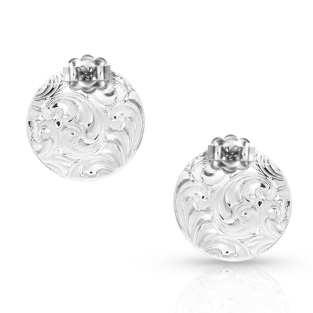 Silver Legacy Button Post Earrings