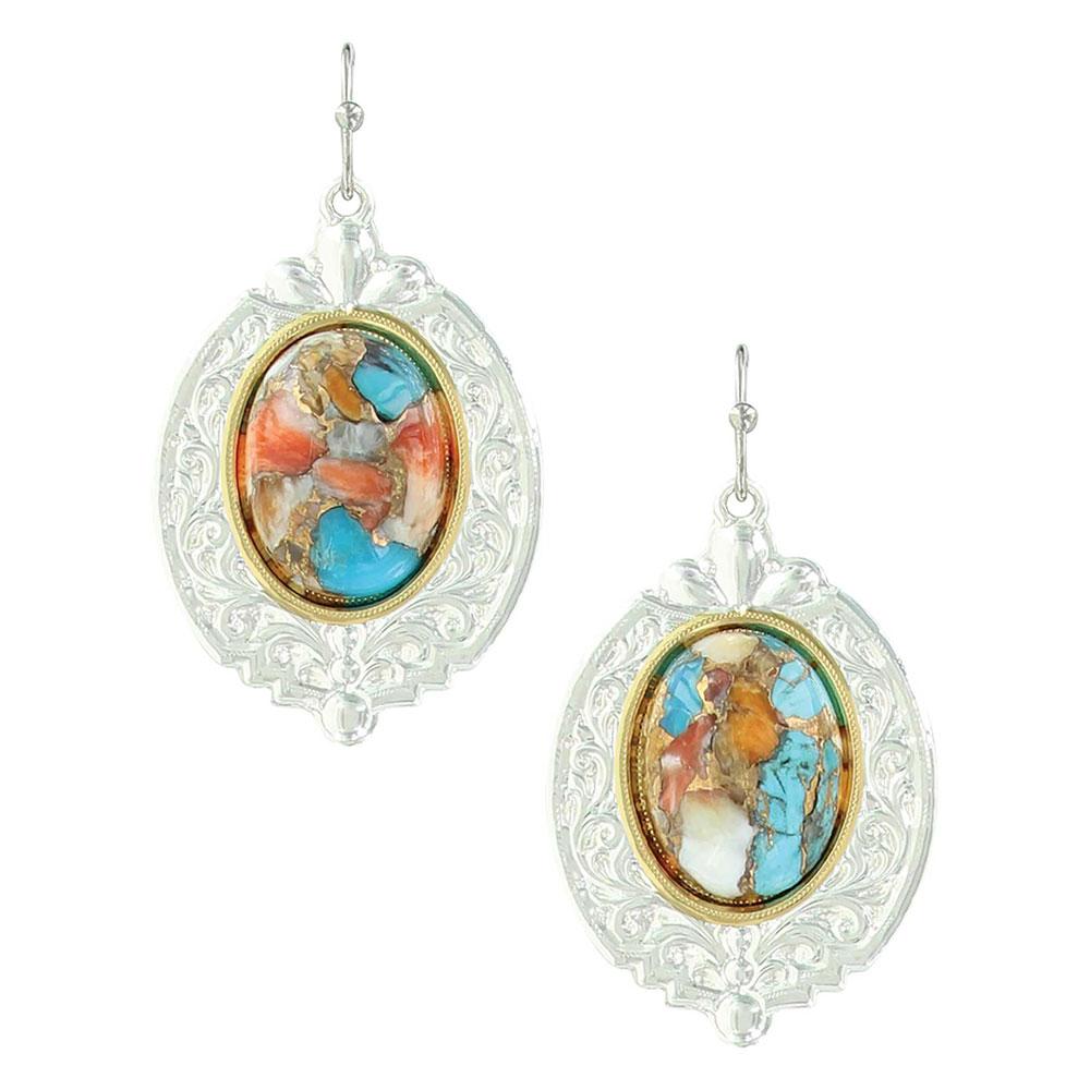 Sweet Memories Mountain Glacier Turquoise Earrings