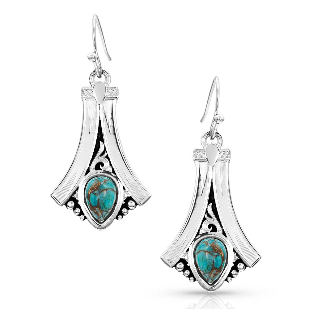 Gracefully Yours Turquoise Earrings