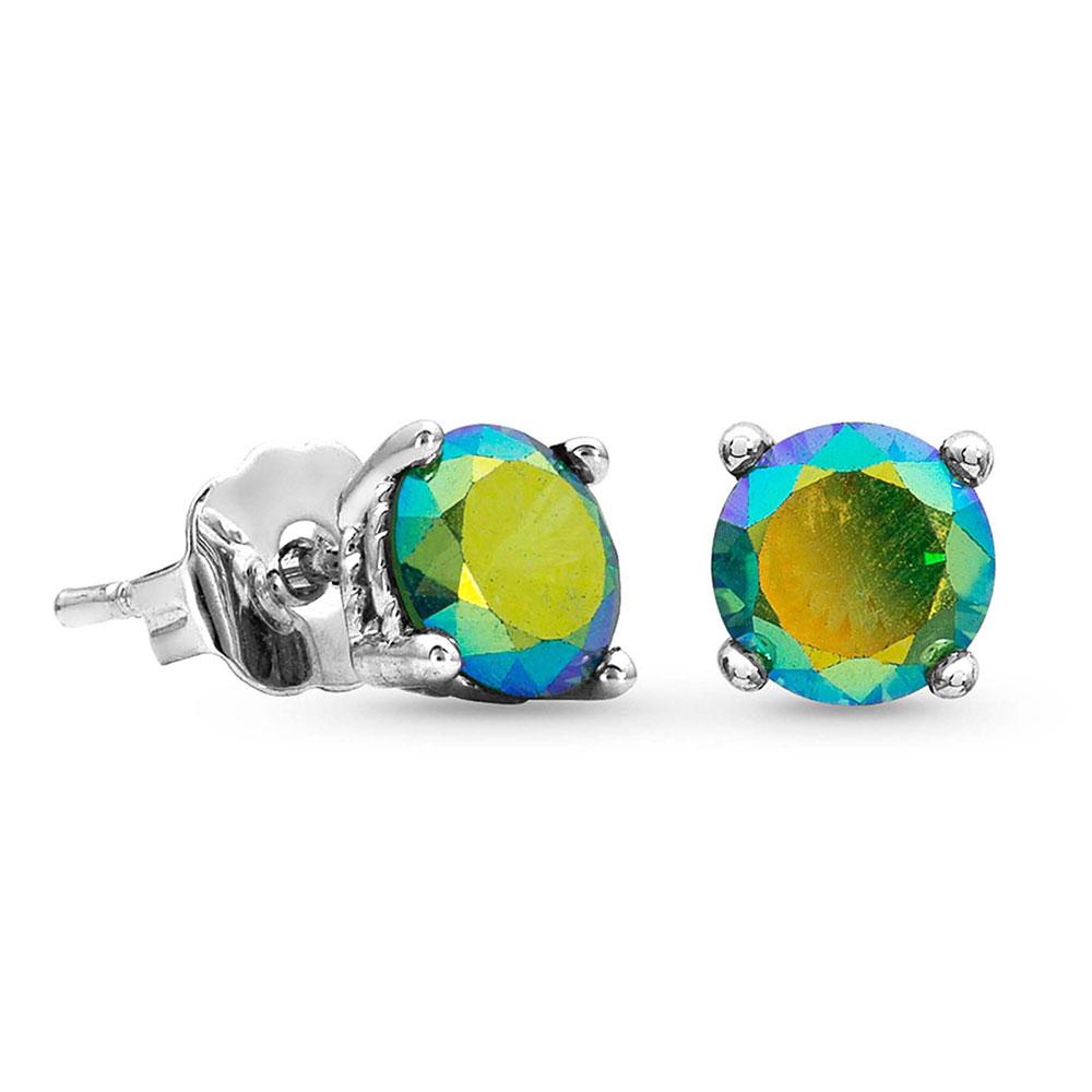 Iridescent Ocean Blue Post Earrings