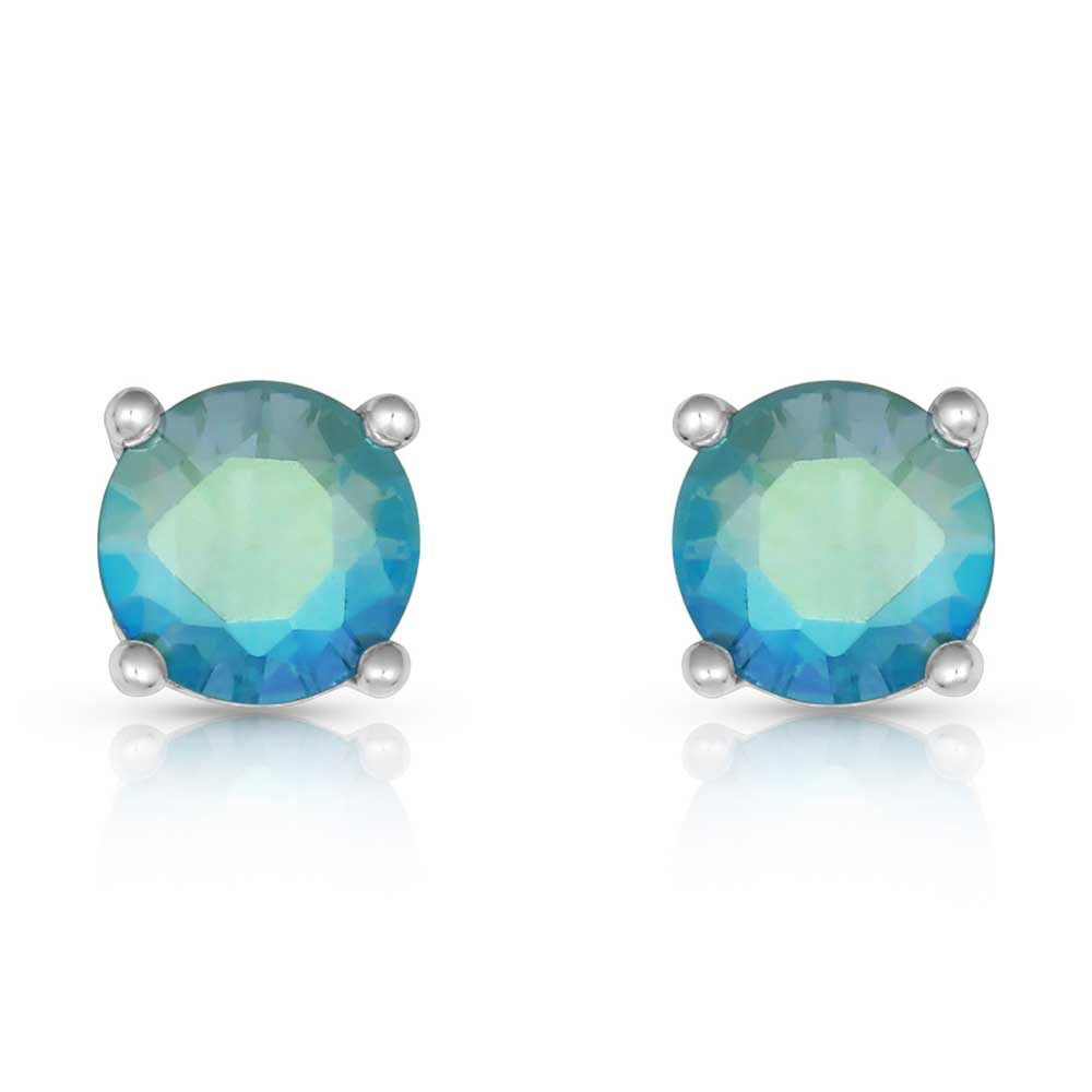 Luminescent Blue Post Earrings