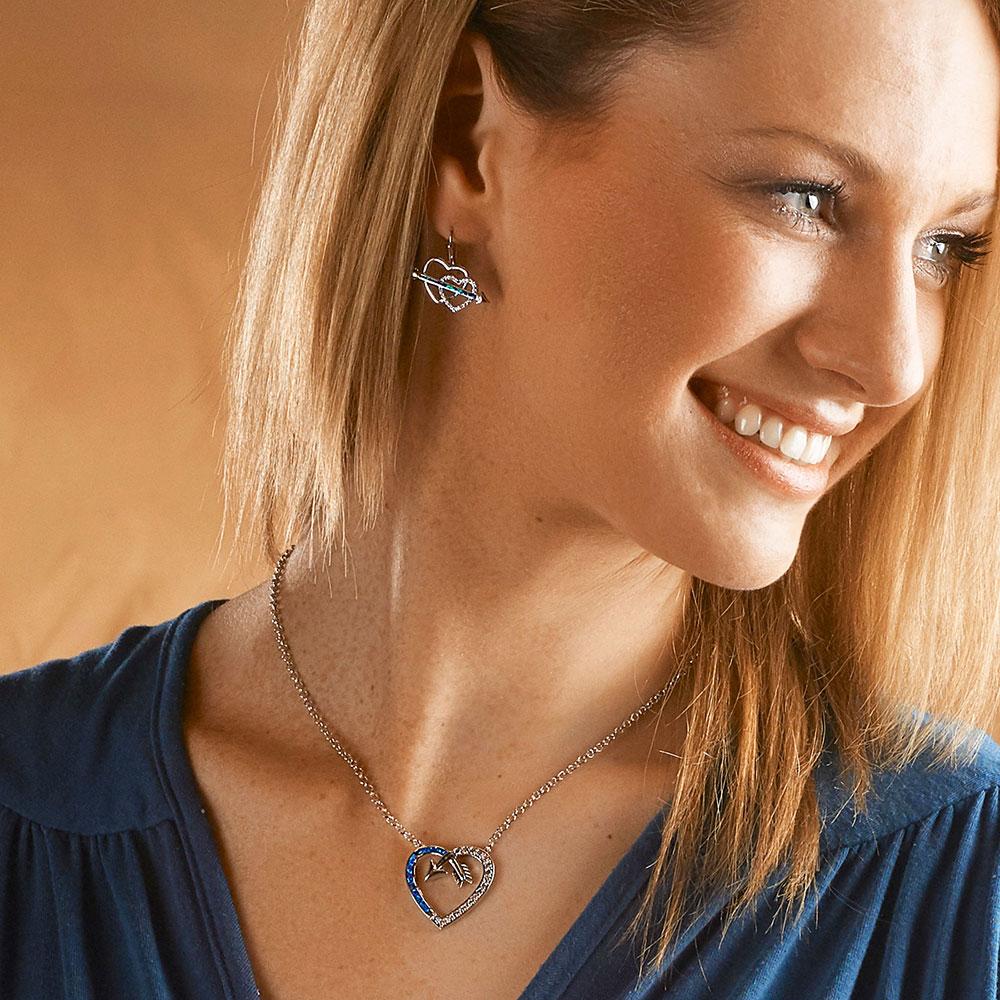 Love Finds A Way Opal Heart Earrings