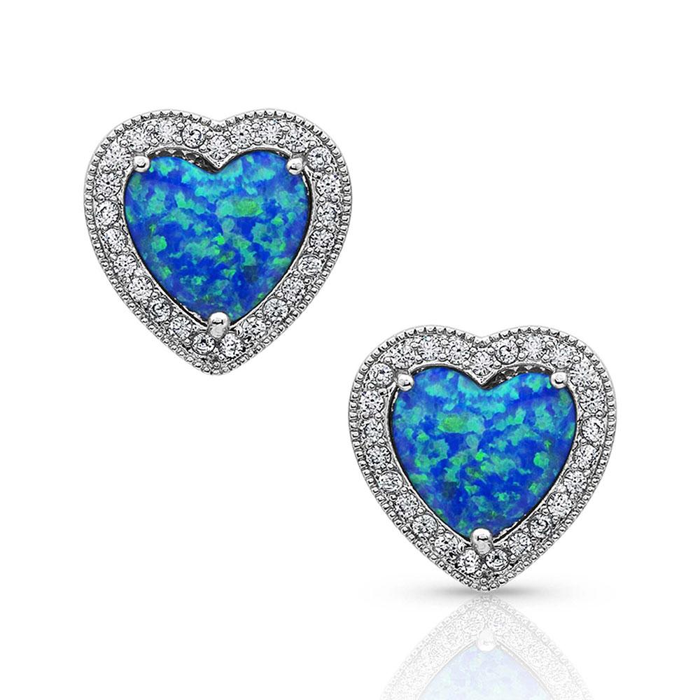 River of Lights Heart Stone Earrings