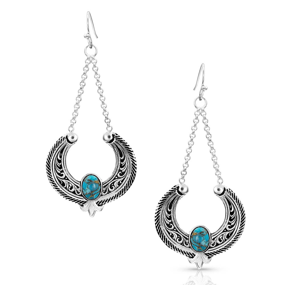 Blue Moon Turquoise Basket Earrings
