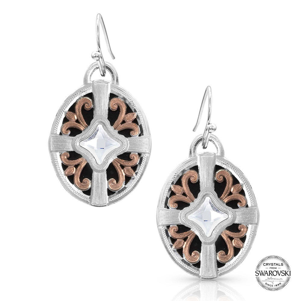 Enduring Beauty Rose Gold Earrings