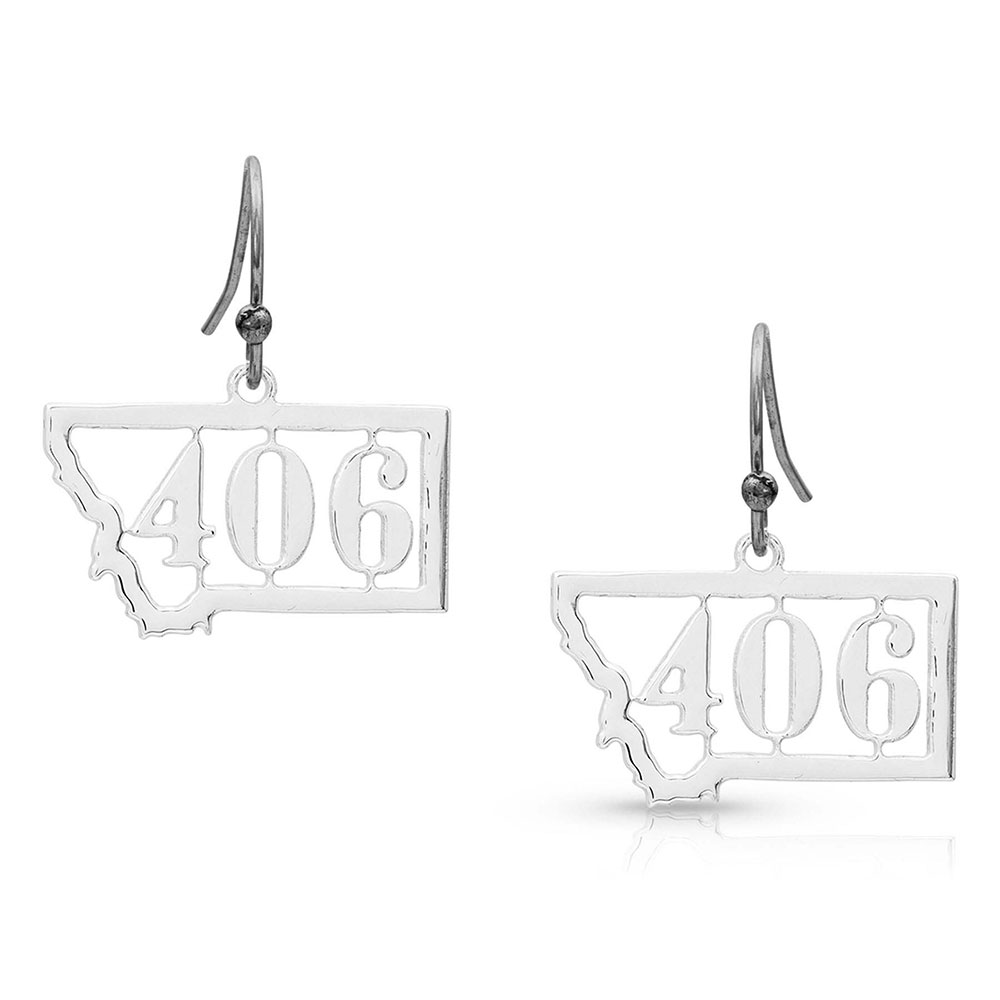 Montana 406 Silhouette State Earrings