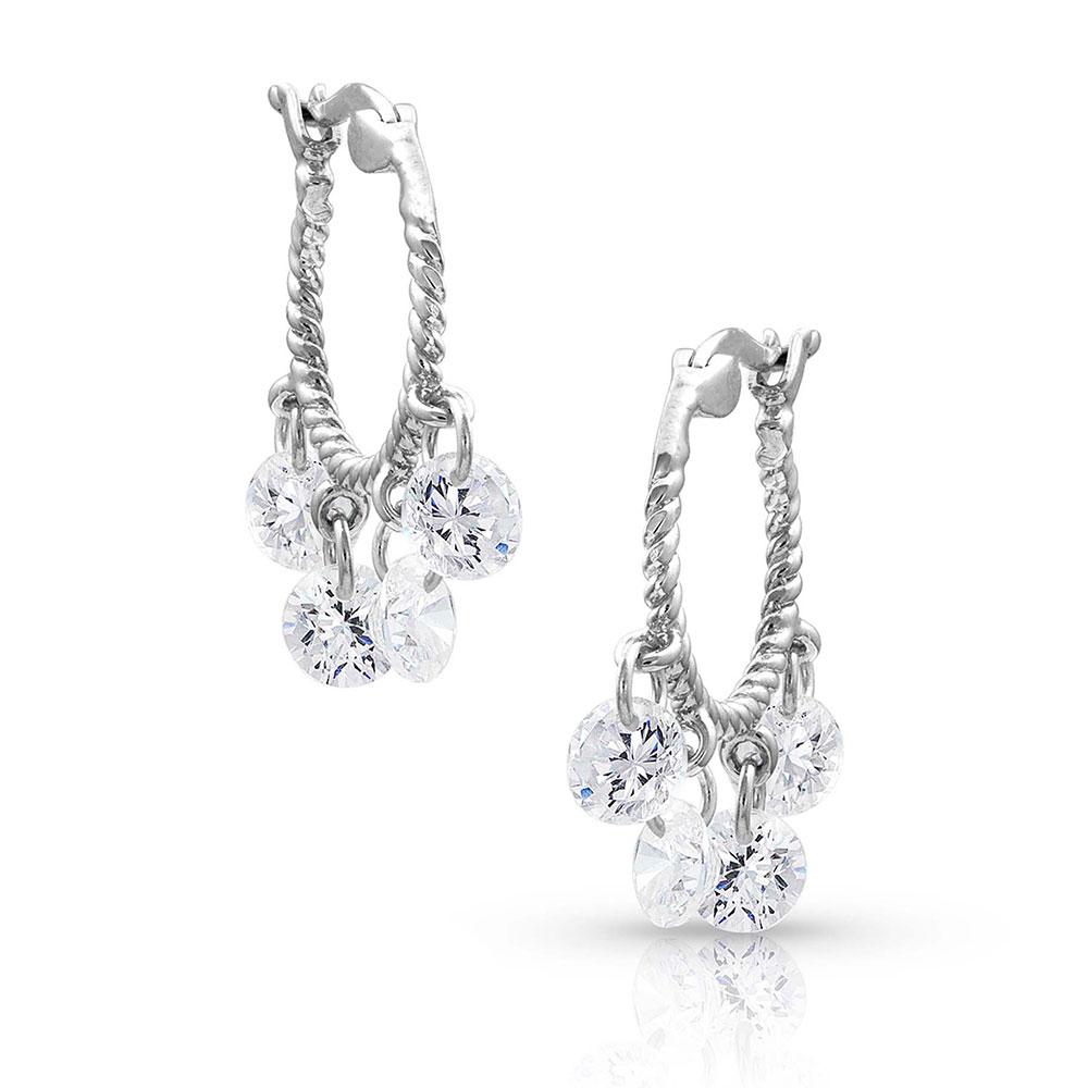 Dancing Charms Rope Hoop Earrings