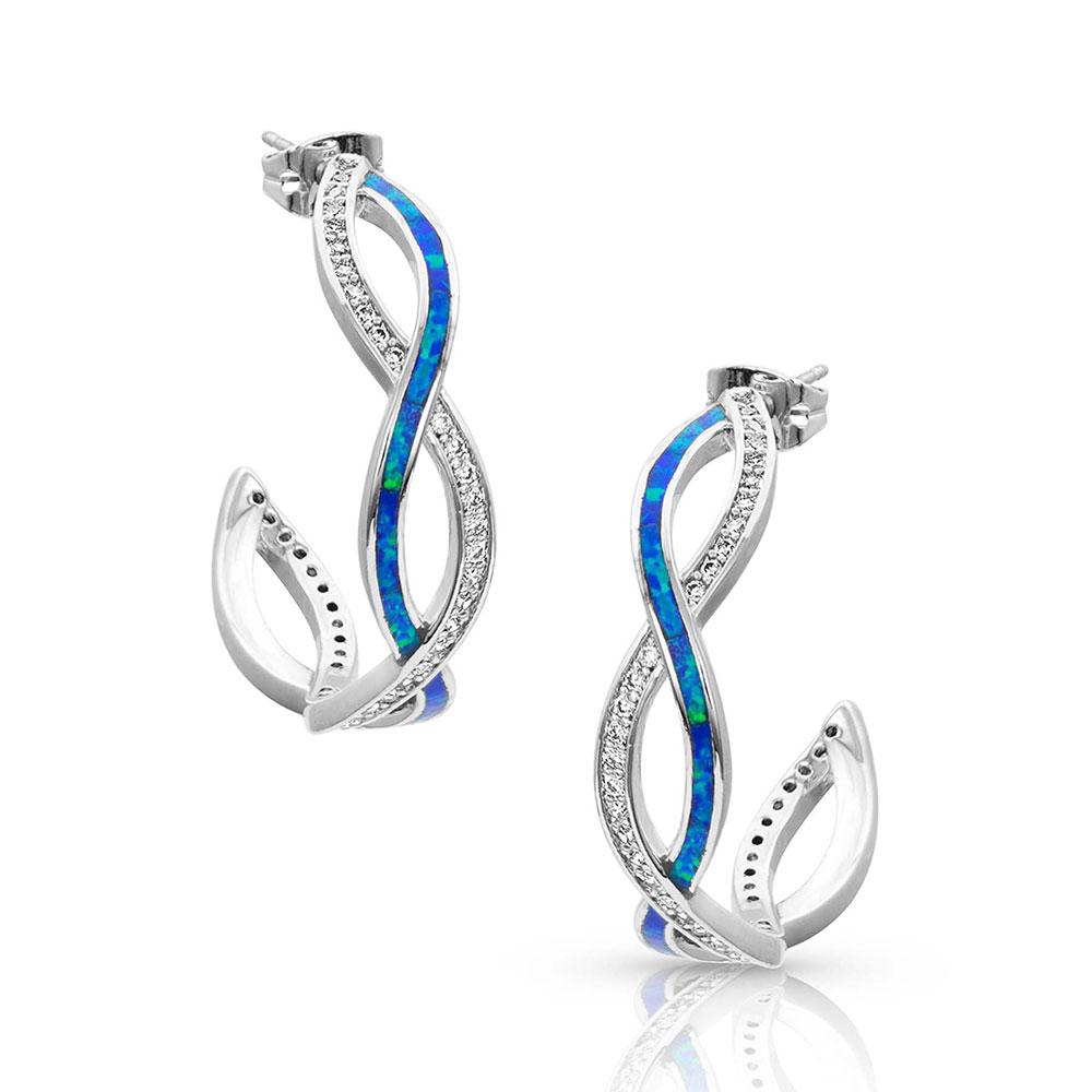 River Lights Twisting Hoop Earrings