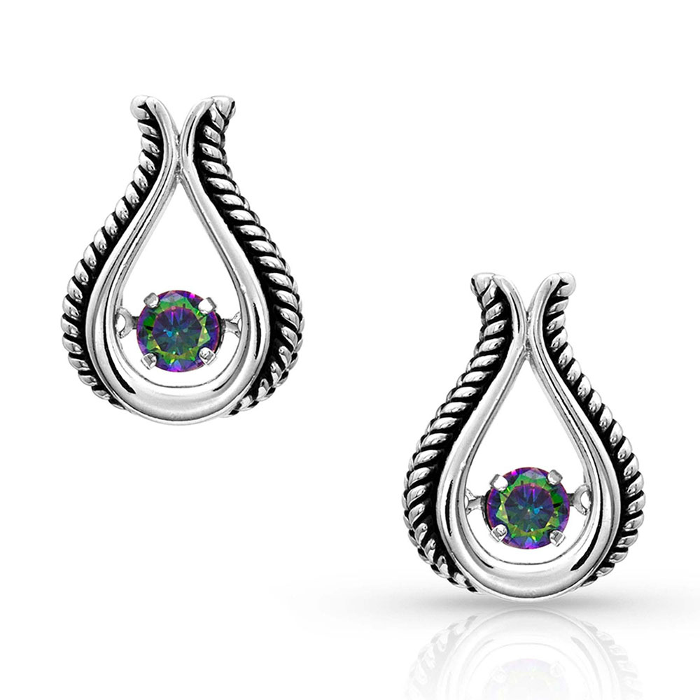 Dancing Northern Light Bud Earrings
