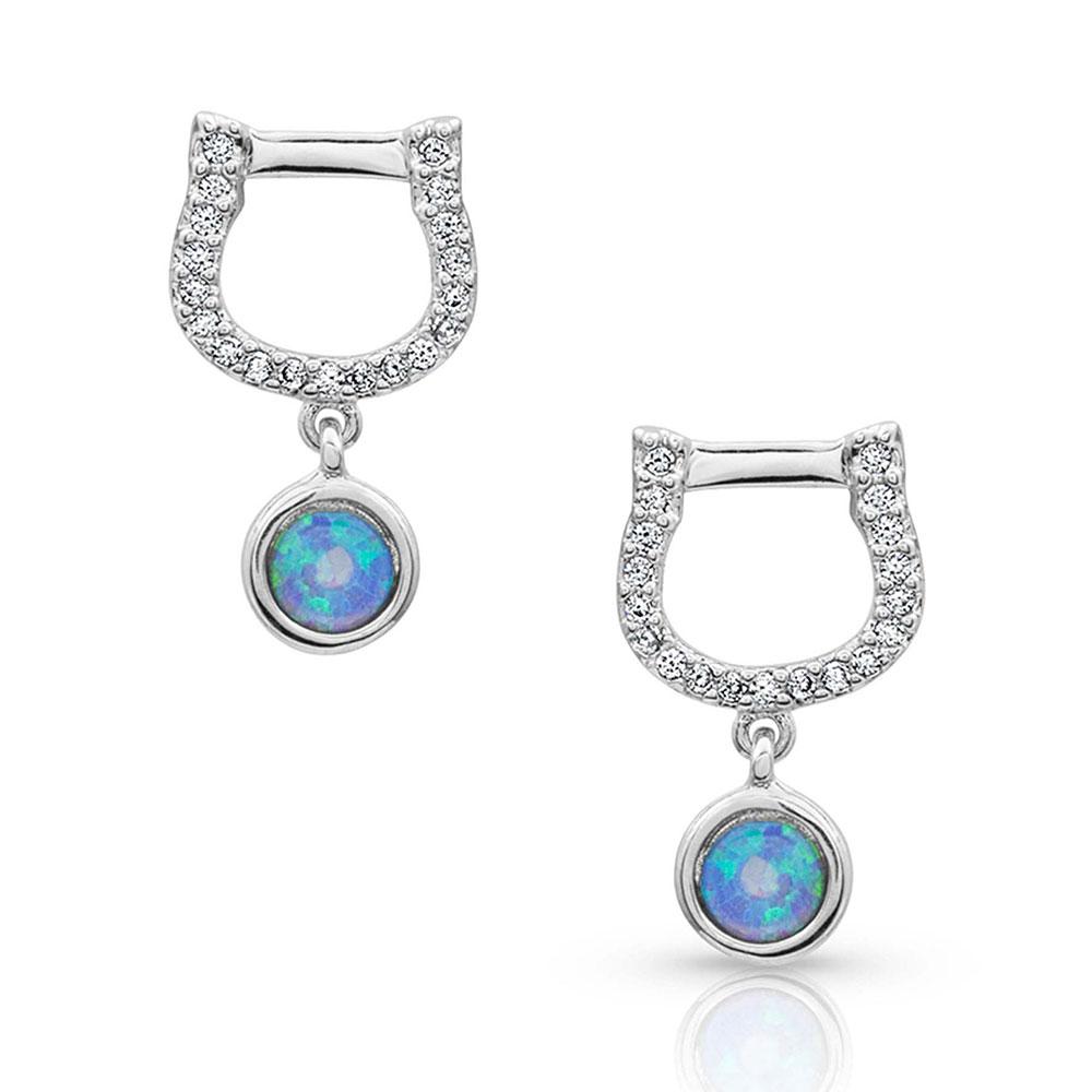 Horseshoe Opal Earrings
