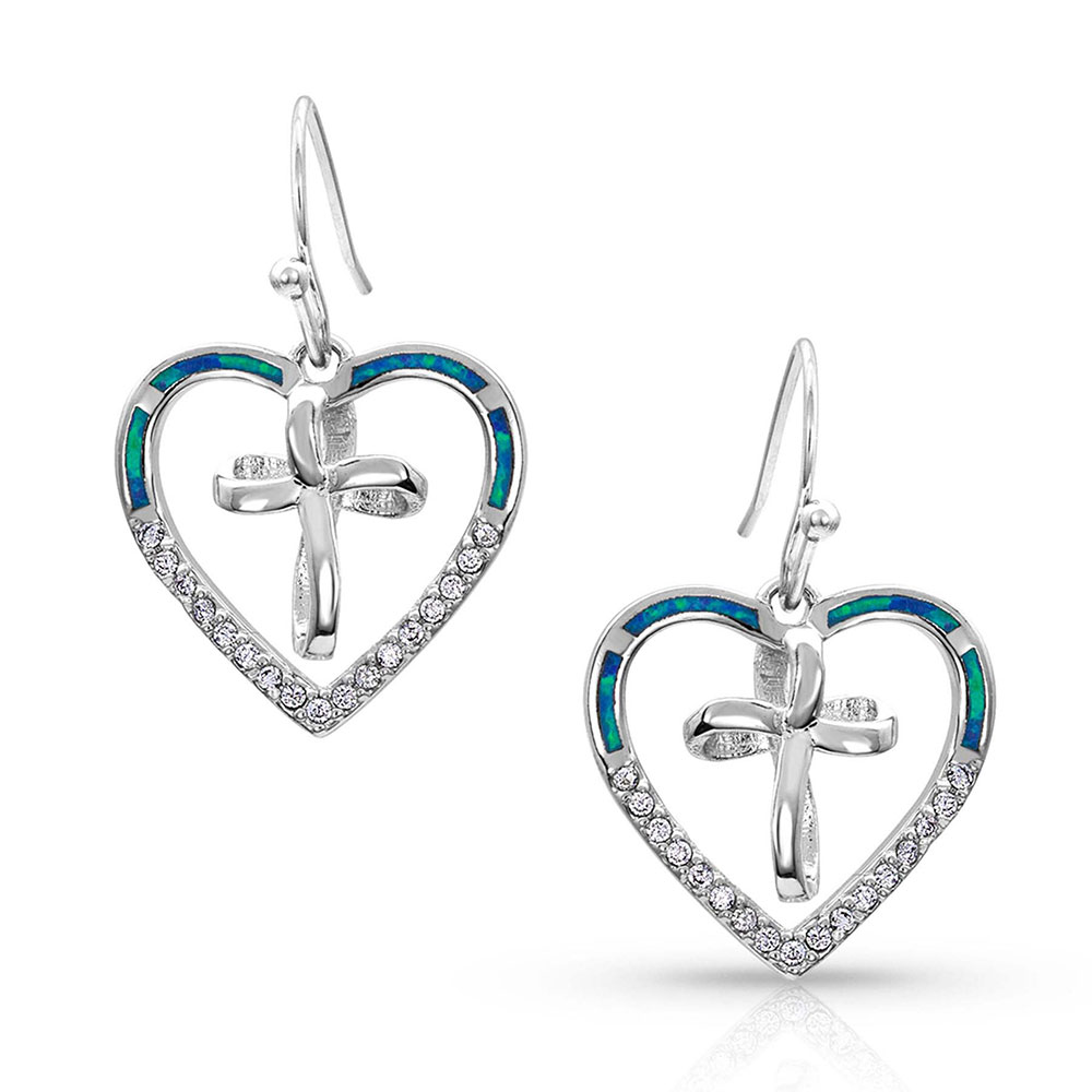 A Heart Made Whole Cross Earrings