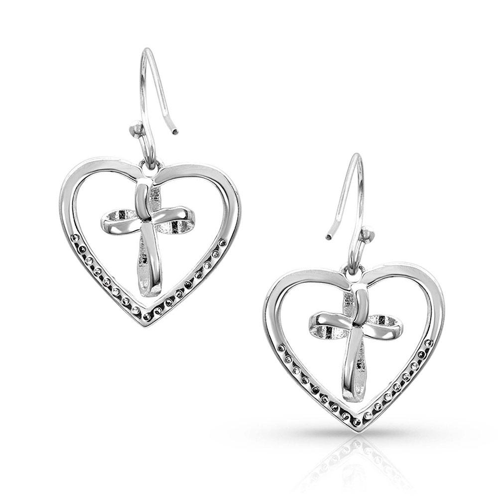 A Heart Made Whole Cross Earrings