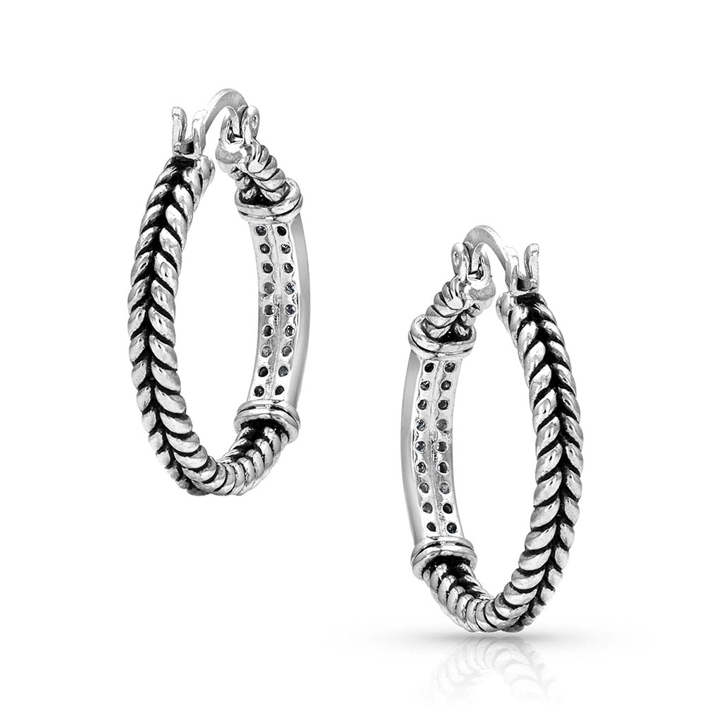 Iced Rope Hoop Earrings