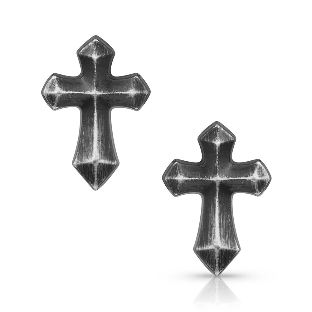 Faith at Midnight Cross Earrings
