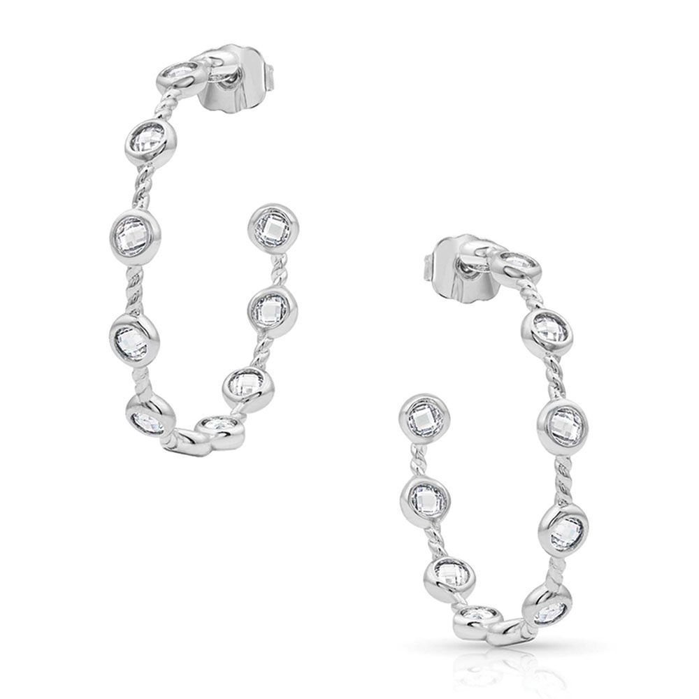 Starlight Bubble Hoop Earrings