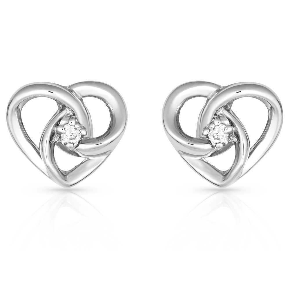 Starlight Infinity Heart Earrings