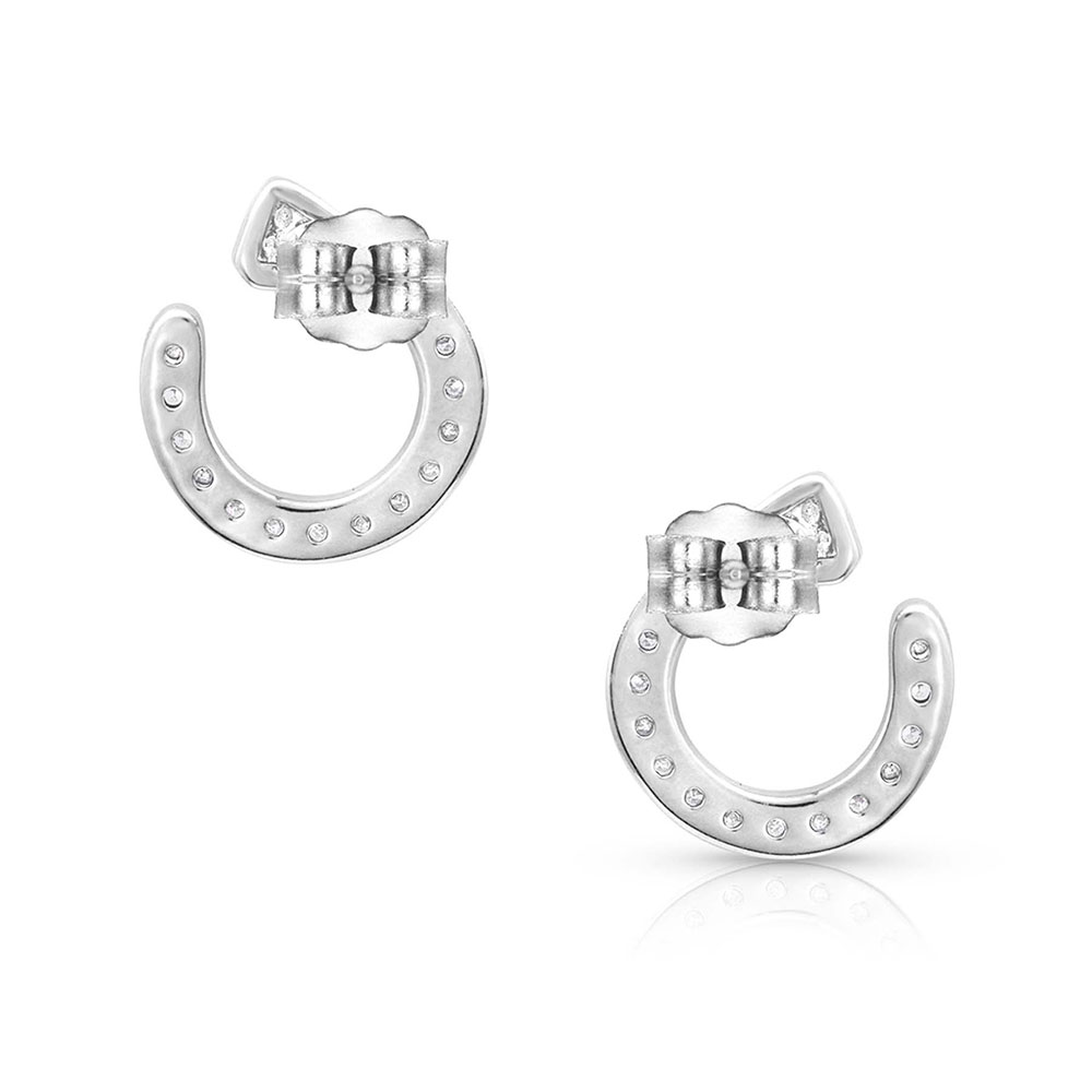 Star Lights Horseshoe Nail Earrings
