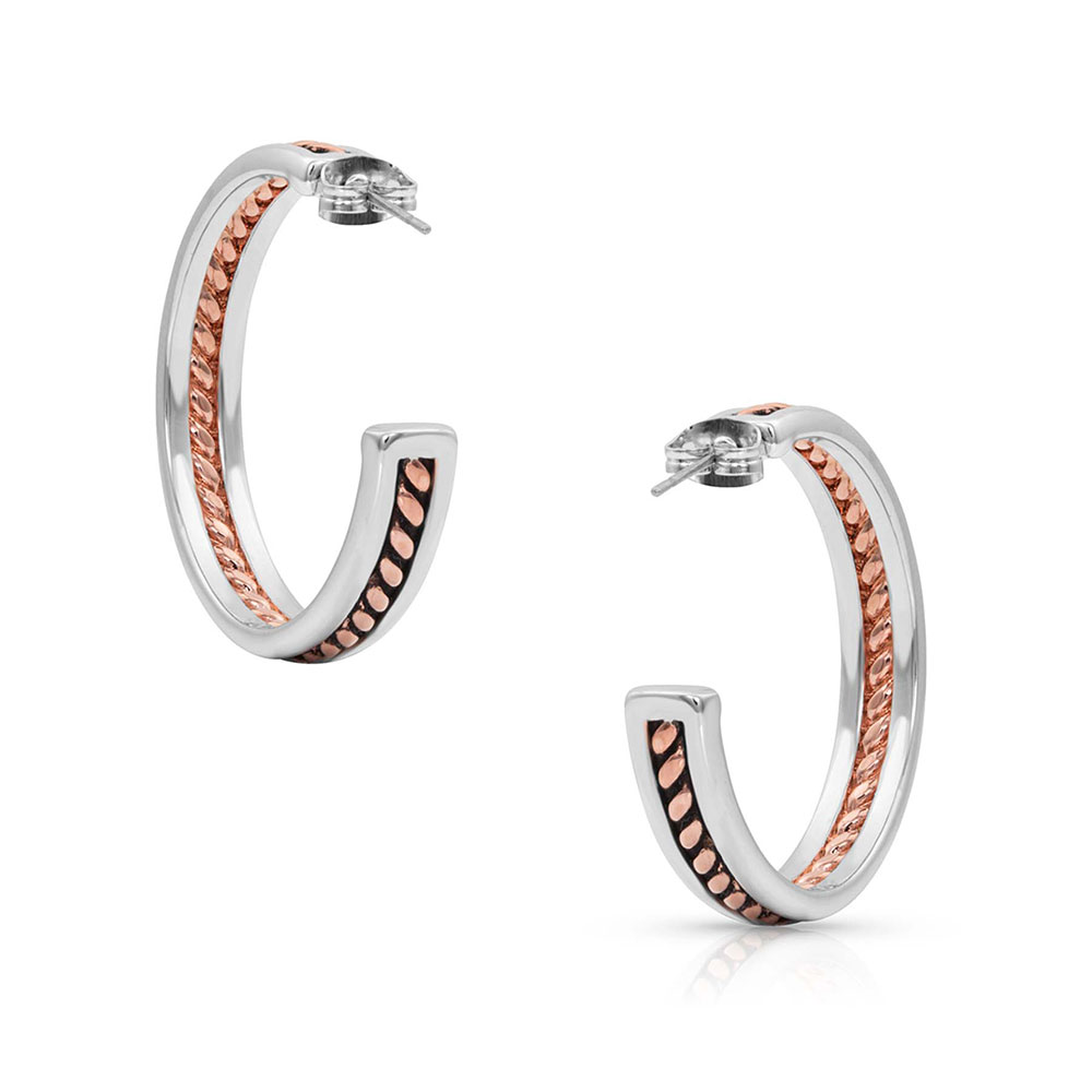 Inner Strength Rope Hoop Earrings
