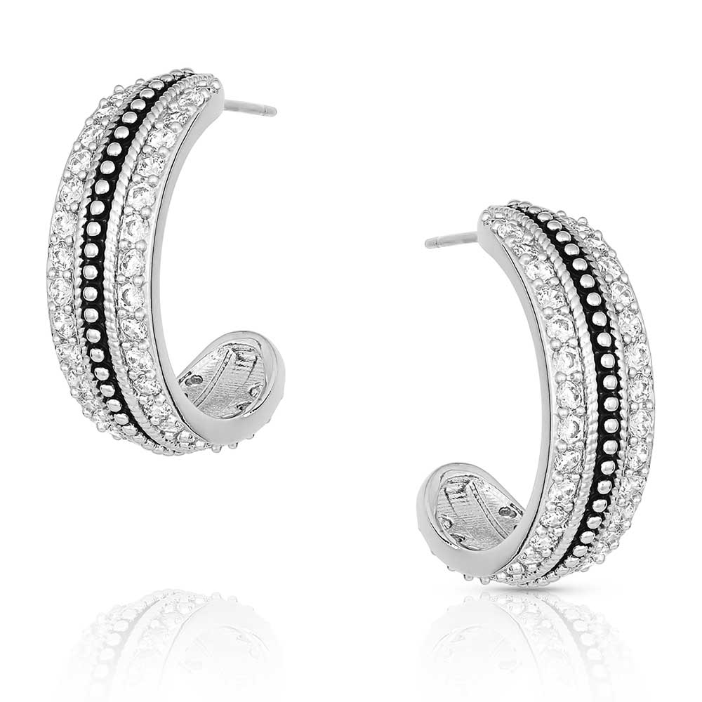 Classic Haloed Beauty Hoop Earrings