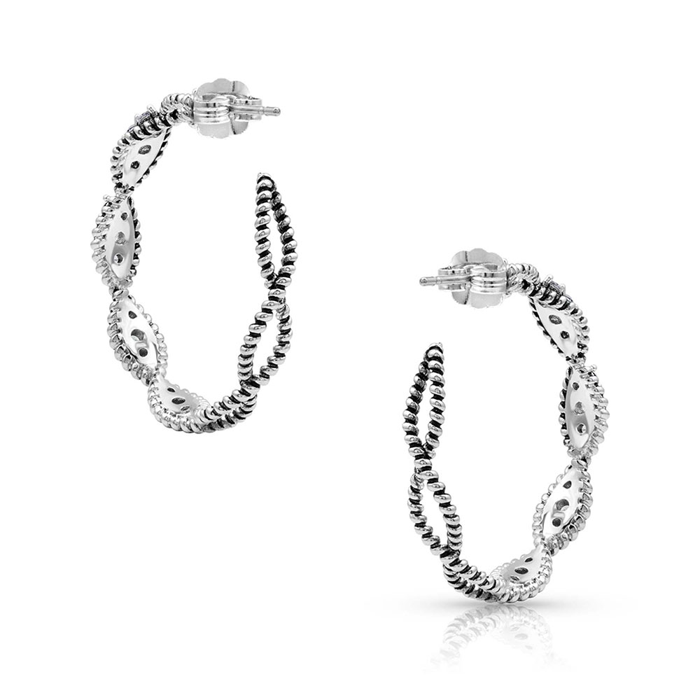 Dueling Ropes Hoop Earrings