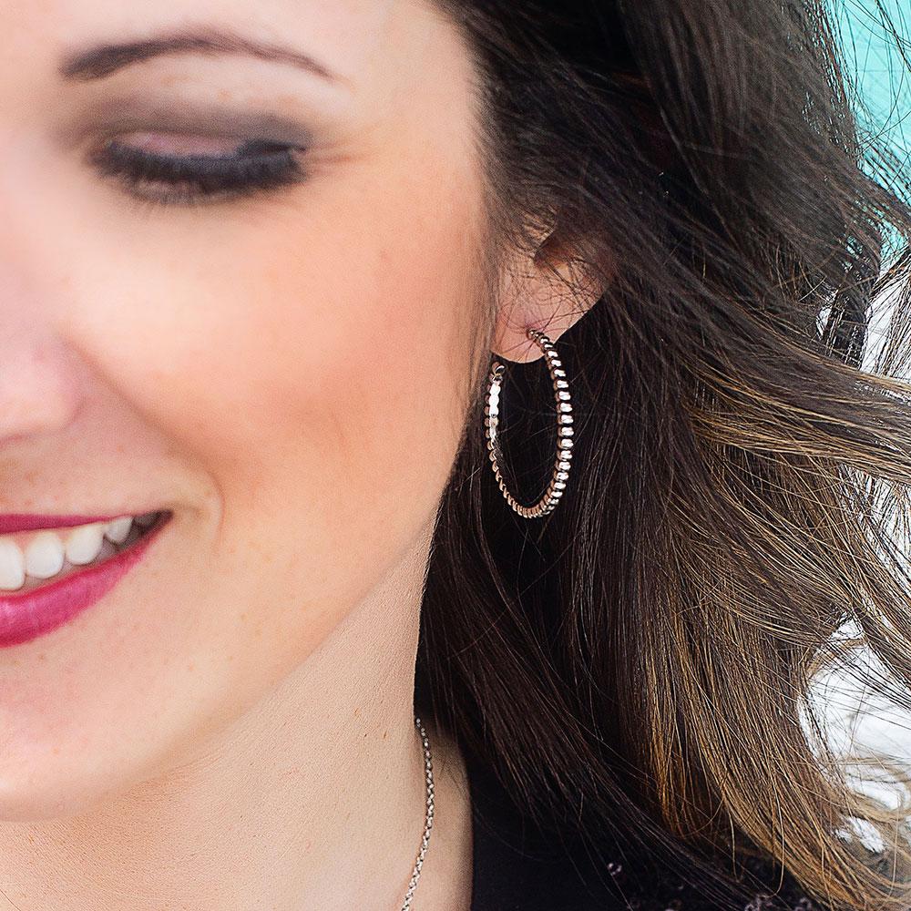 Beaded Unity Hoop Earrings