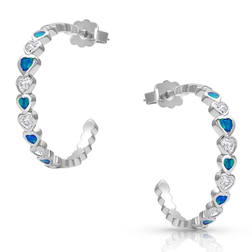 River of Lights Hearts Hoop Earrings