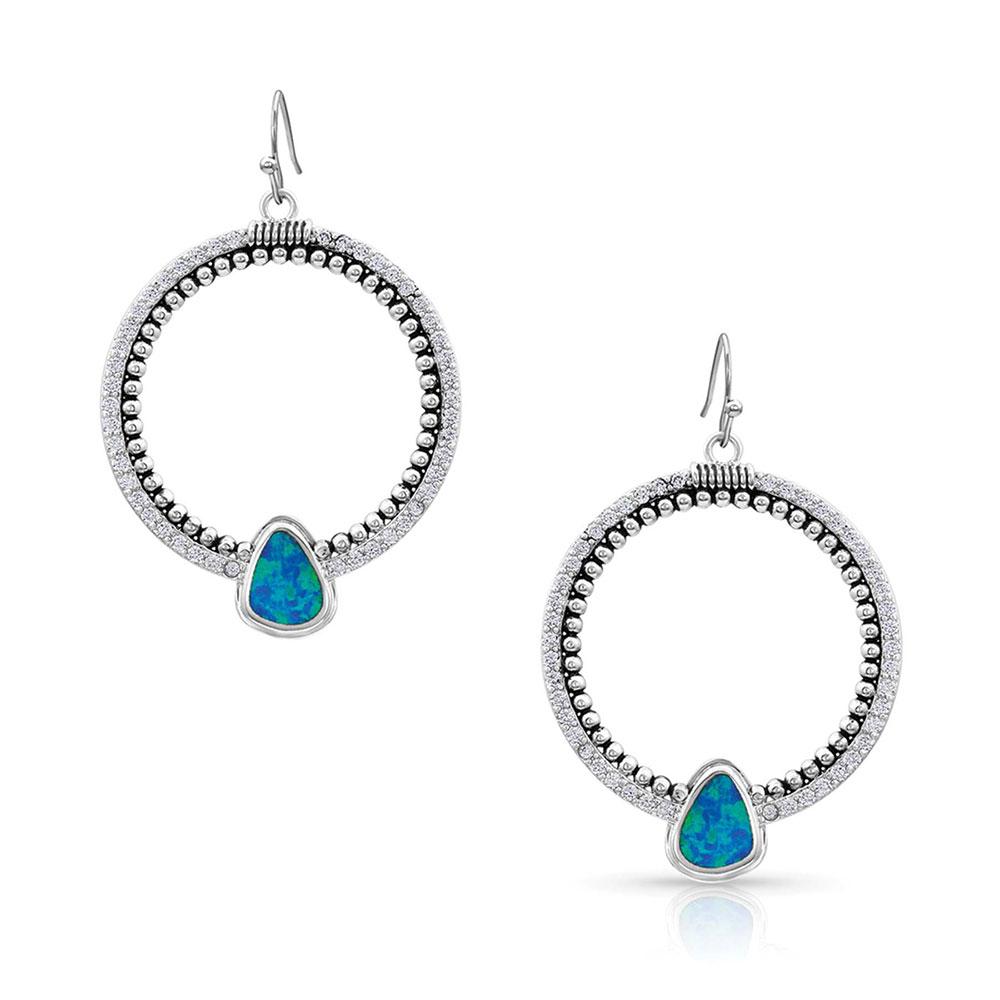 River of Lights Drop Circle Earrings