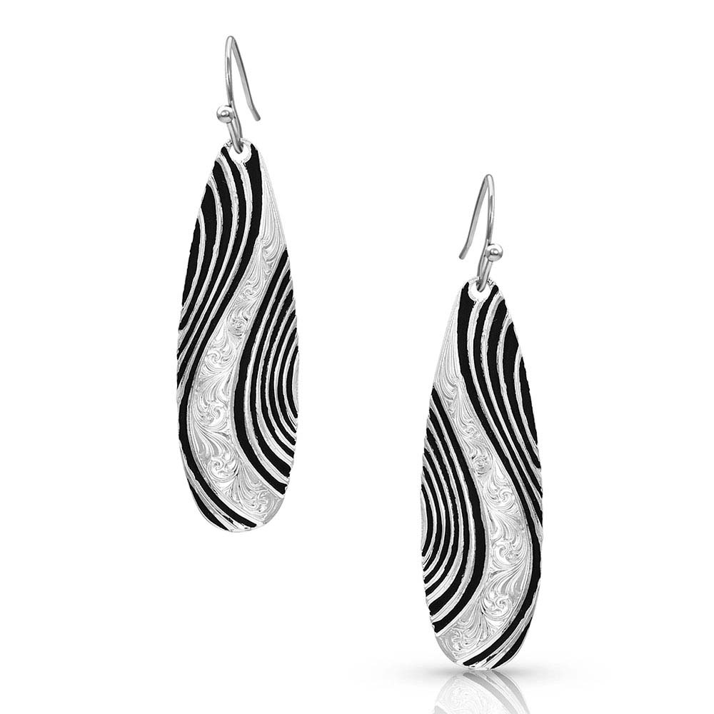 Abstract River Bend Earrings