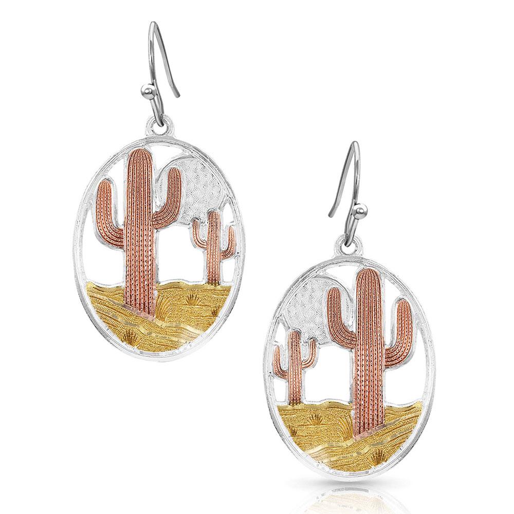 Desert Moon Cactus Earrings