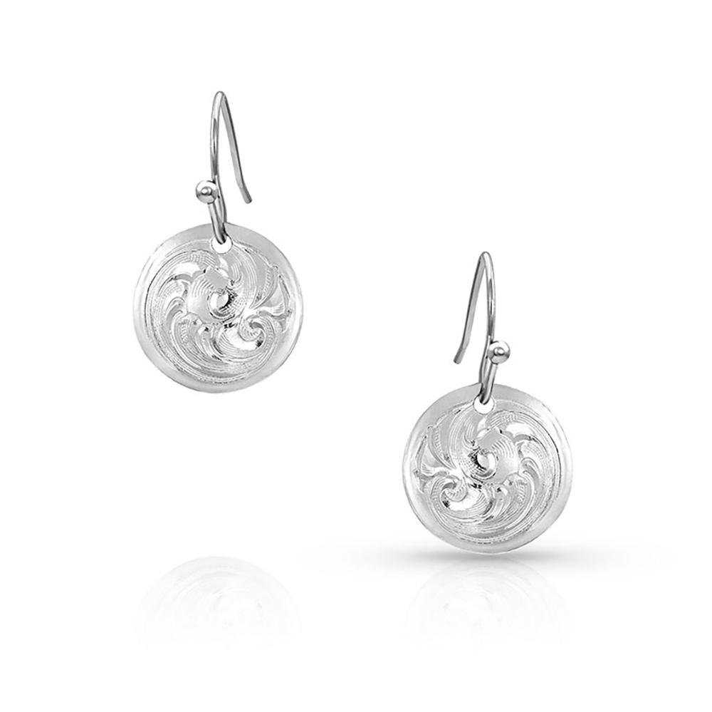 Classic Beauty Mini Concho Dangle Earrings