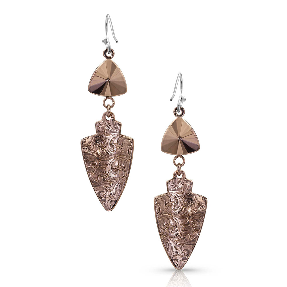 Brave Spirit Arrowhead Earrings