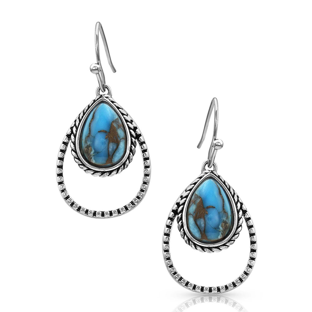 Double Rope Turquoise Earrings