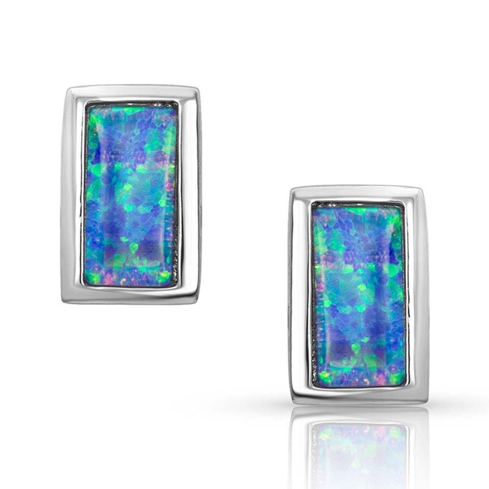 Bar Opal Stud Earrings