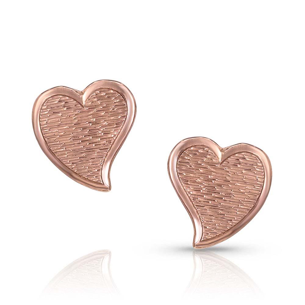 My Heart Is Full Rose Gold Earrings