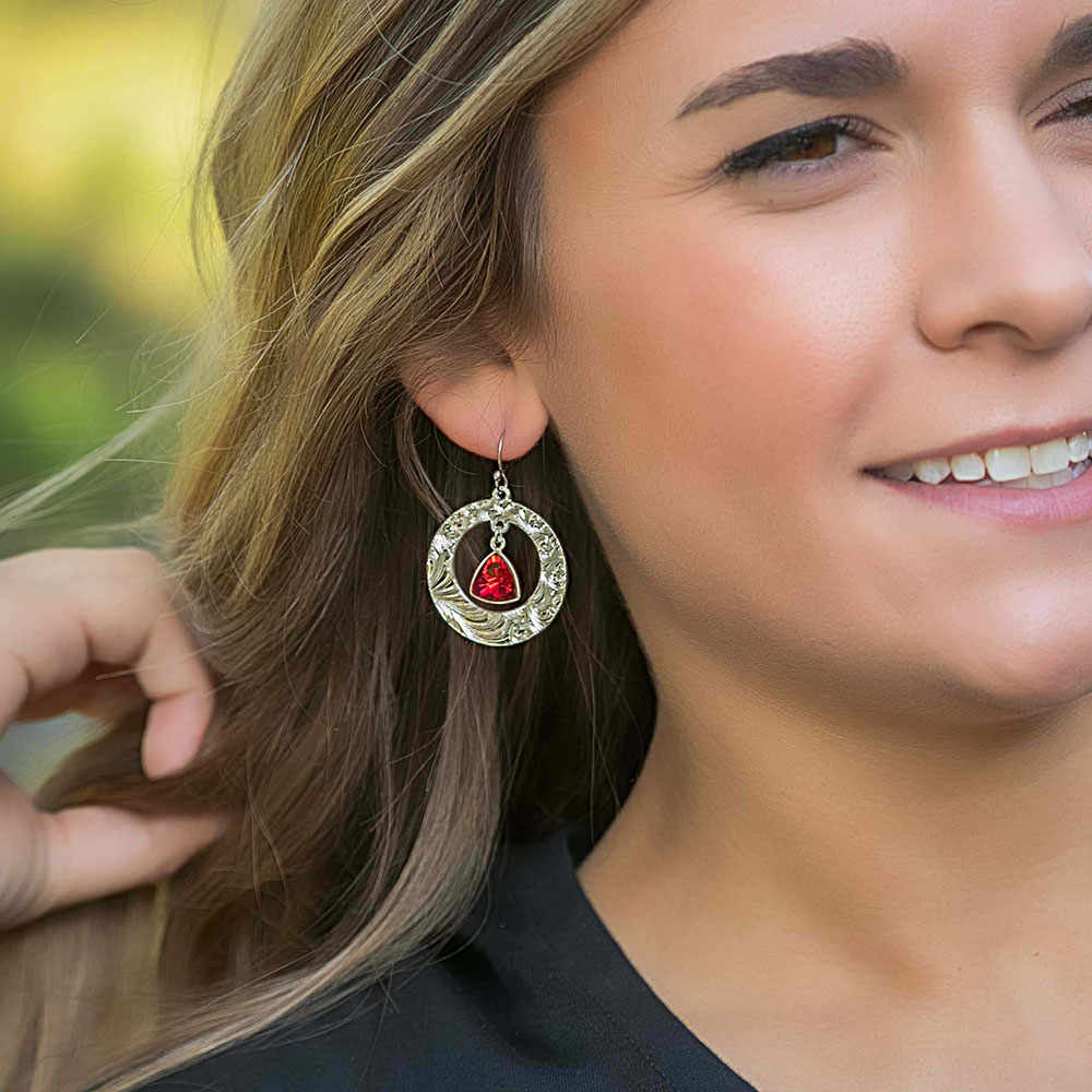 Mighty Crimson Flame Earrings