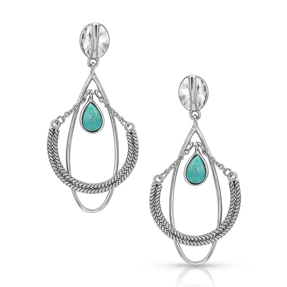 Horseshoe Mobile Turquoise Earrings