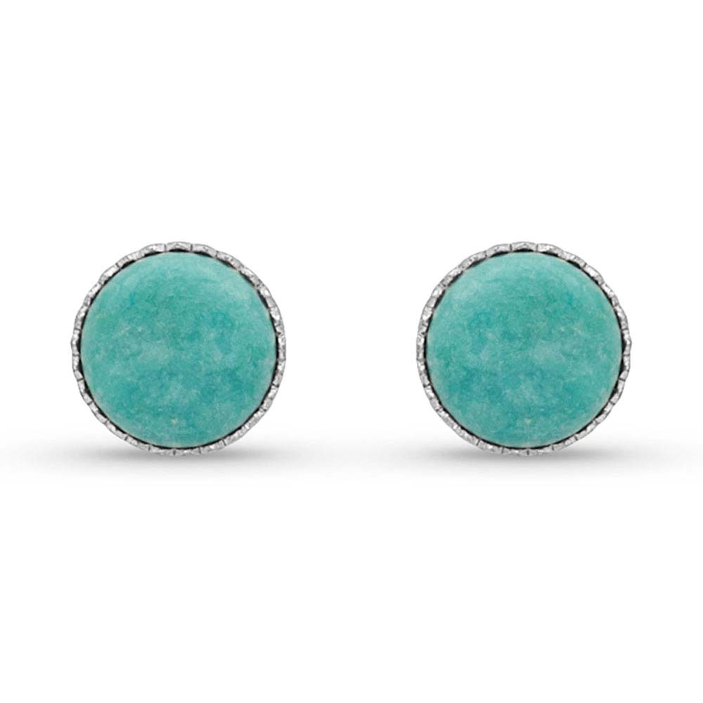 Two Way Concho Turquoise Post Earrings