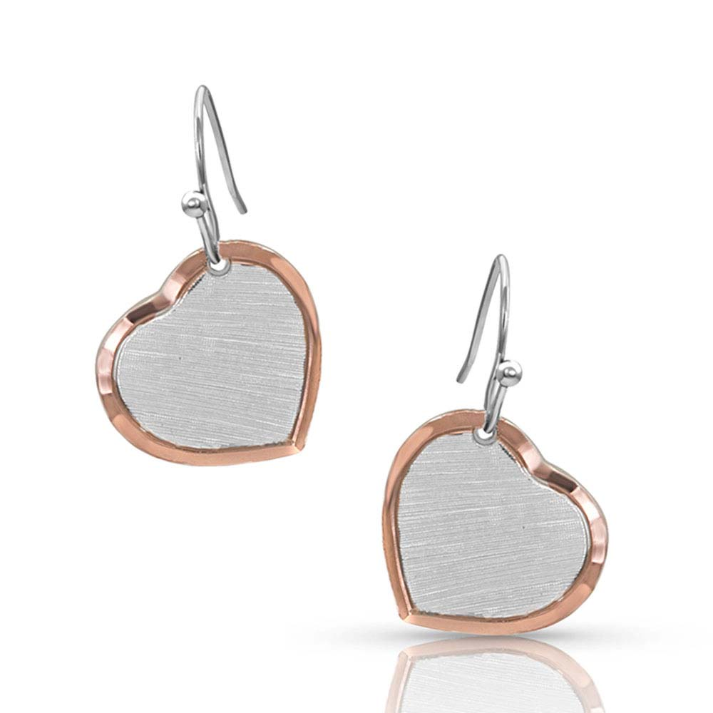 Perfectly Paired two-tone Heart Earrings