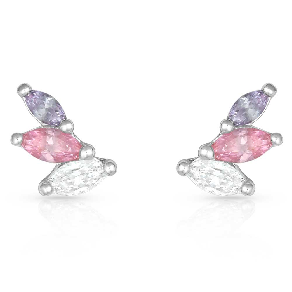 Flared Cluster Wing Earrings