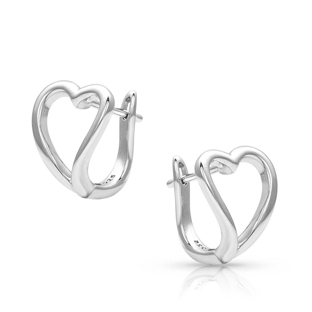 Framed In Love Open Heart Earrings