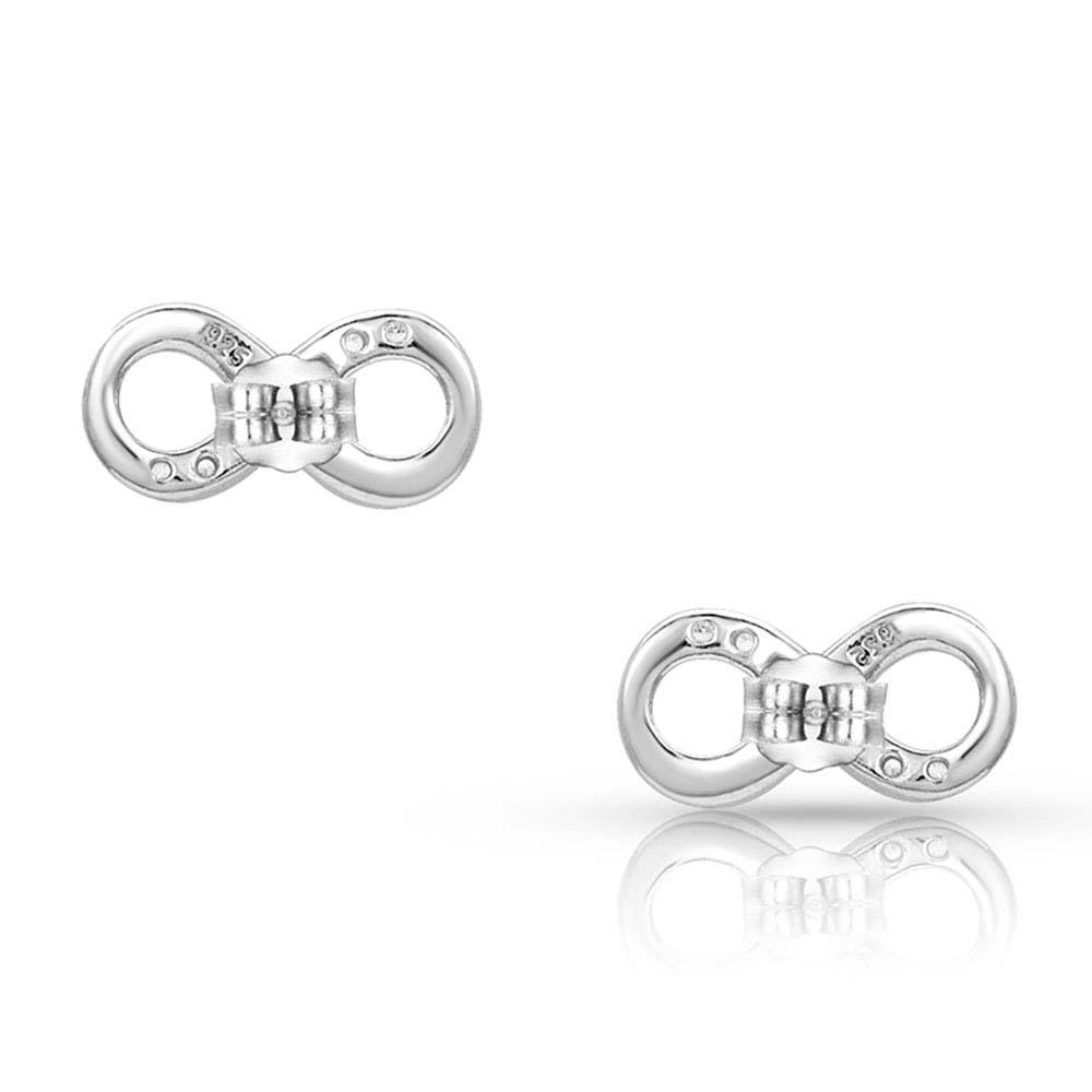 Silver Shine Infinity Earrings