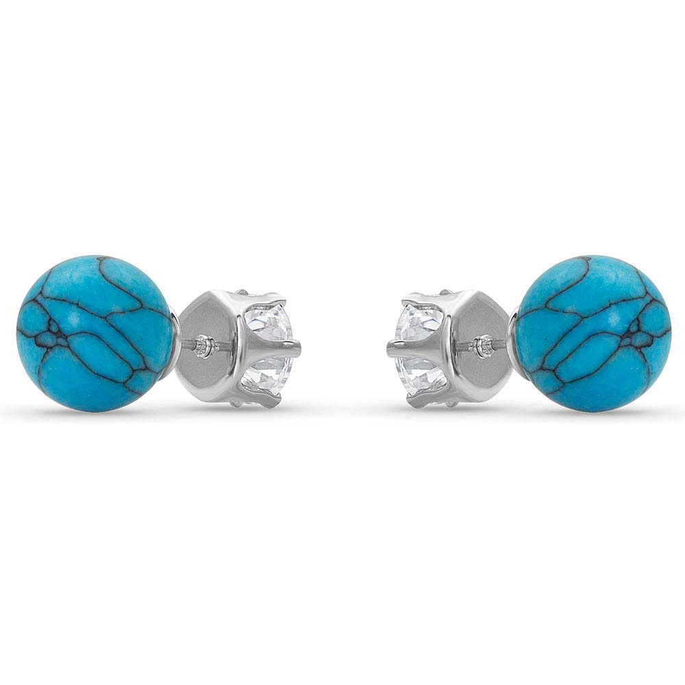 Reversible Twinkle Turquoise Post Earrings