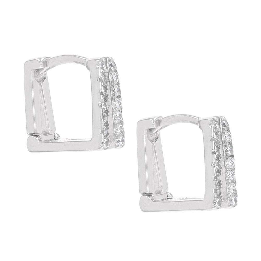 Minimal V Stirrup Earrings