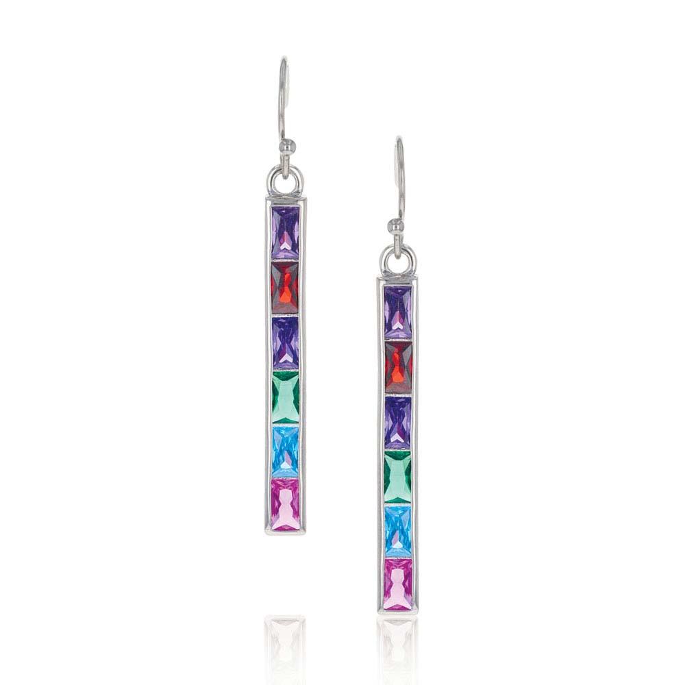 Rainbow Bar Drop Earrings